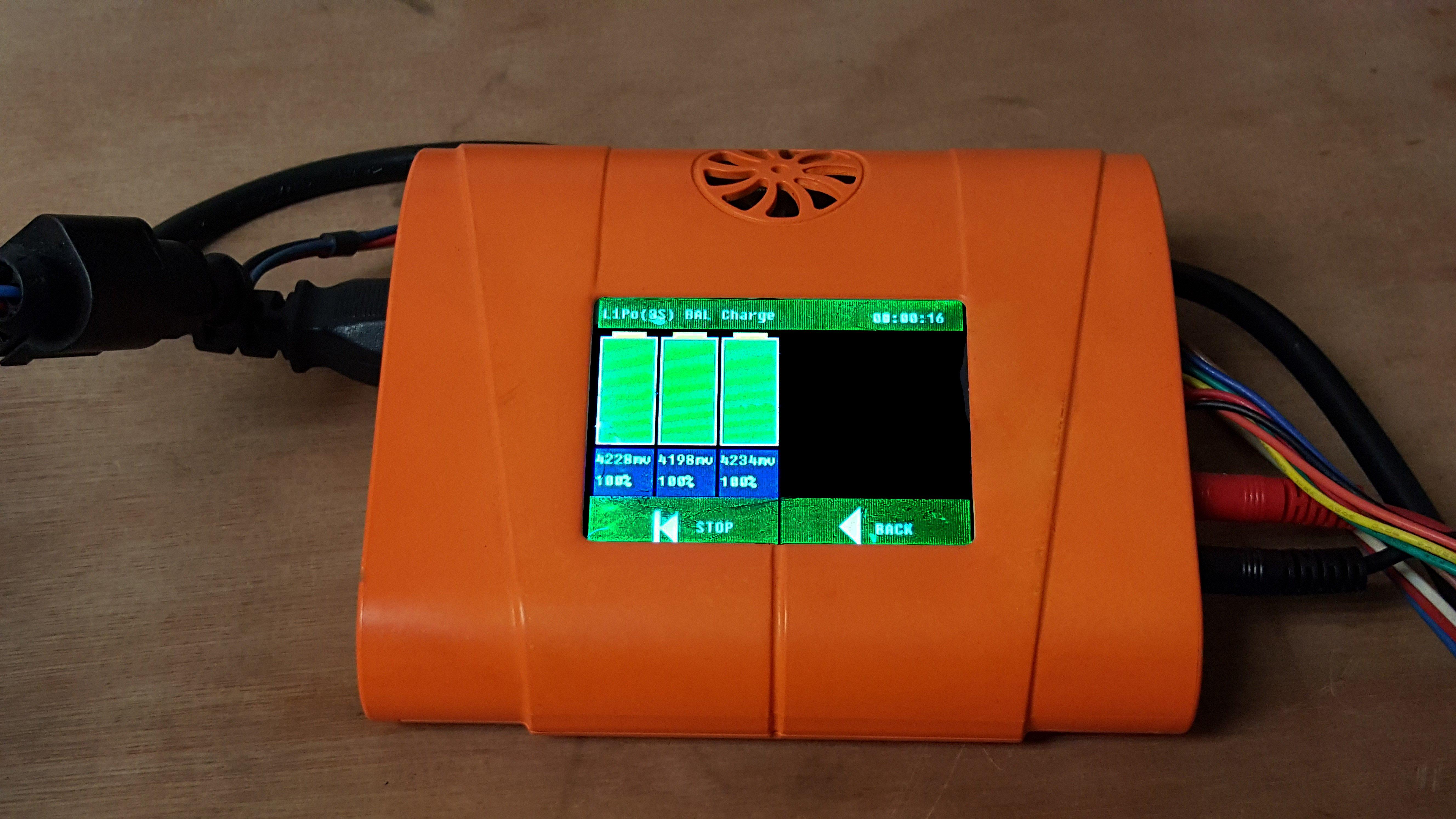 Baterias celdas panel rojo