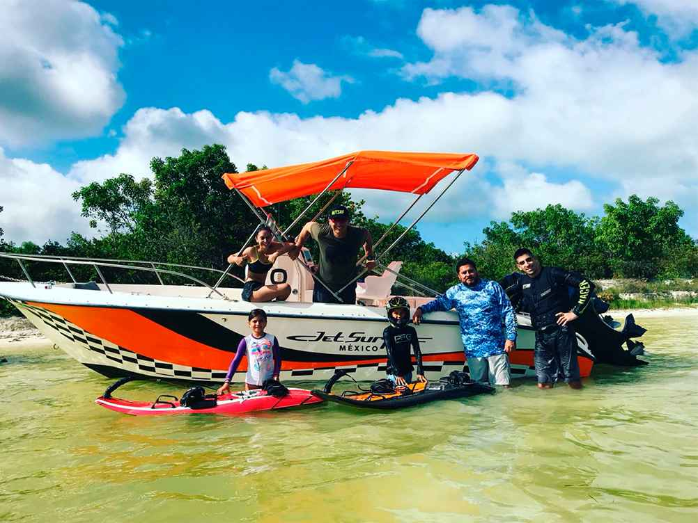 Lancha Jetsurf Cancún Julio 2018